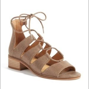 Lucky Brand Tazu Lace Up Sandals Gladiators 6.5